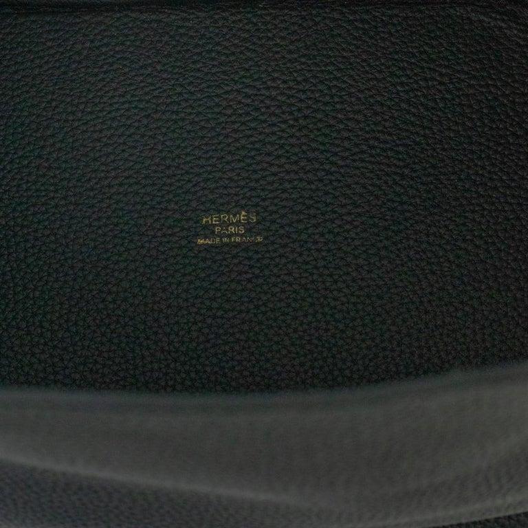 Hermès, Picotin 22 lock in black leather For Sale 2