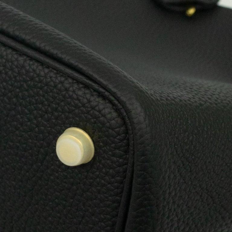 Hermès, Picotin 22 lock in black leather For Sale 5