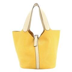 Hermes Picotin Bag Bicolor Clemence GM