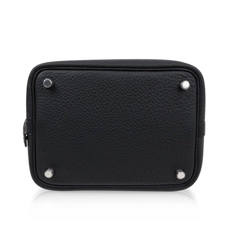 Hermes Picotin Lock 18 Bag Black Clemence Tote Palladium Hardware 7