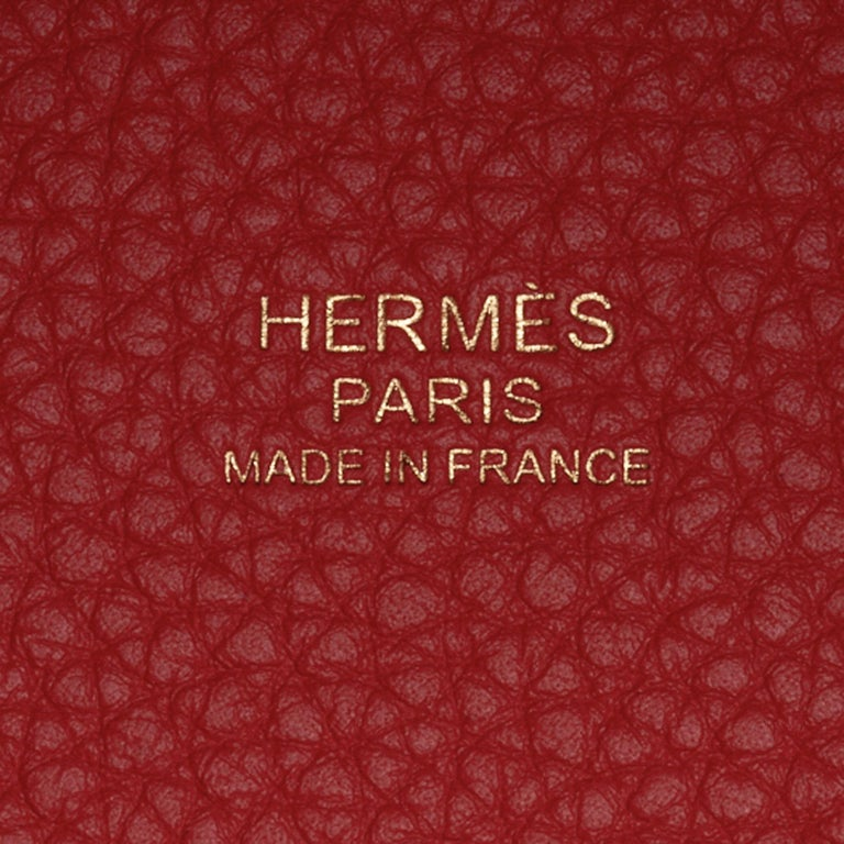 Hermes Picotin Lock 18 Bag Rouge Tomate Tote Clemence Gold Hardware  For Sale 2