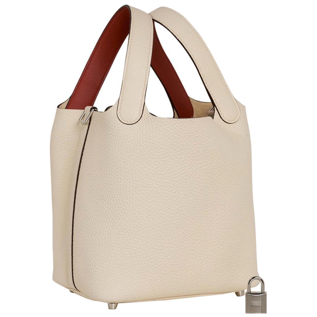 Hermes Picotin Lock 18 Eclat Bag Nata / Terre Battue Tote Clemence
