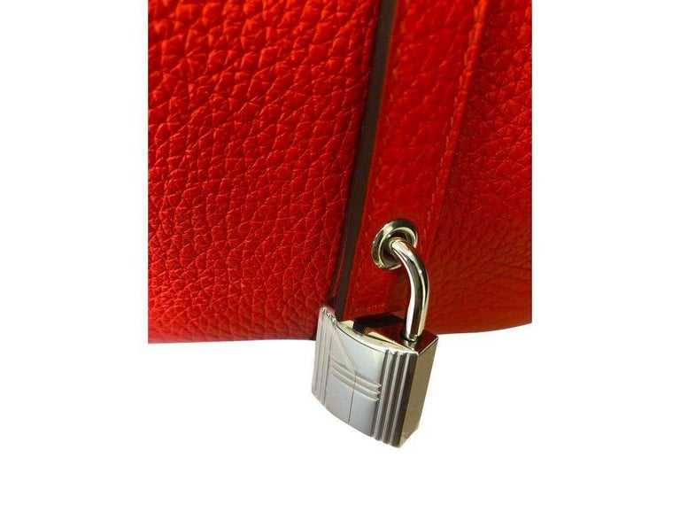Hermes Picotin Lock 18cm Rouge Tomate Palladium Hardware - New Condition In New Condition For Sale In London, GB