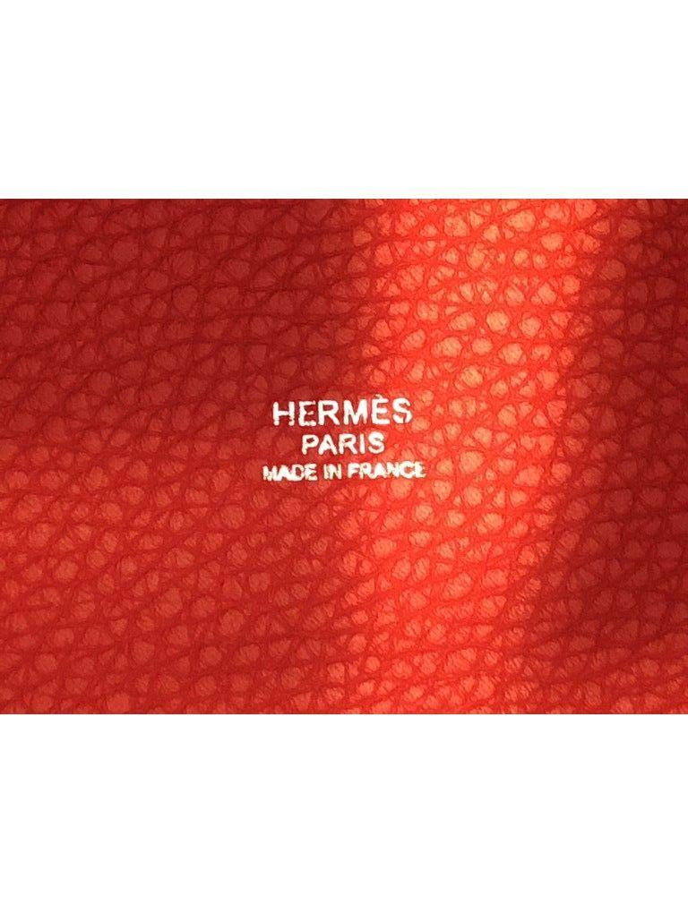Women's Hermes Picotin Lock 18cm Rouge Tomate Palladium Hardware - New Condition For Sale