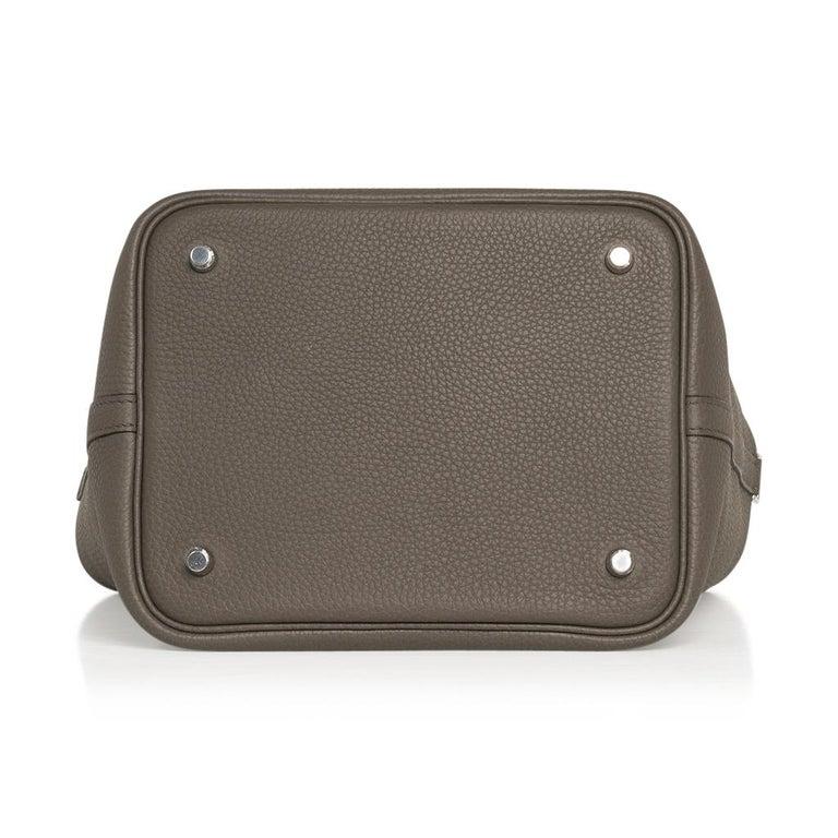 Hermes Picotin Lock 22 Bag MM Etain Palladium Hardware For Sale 1