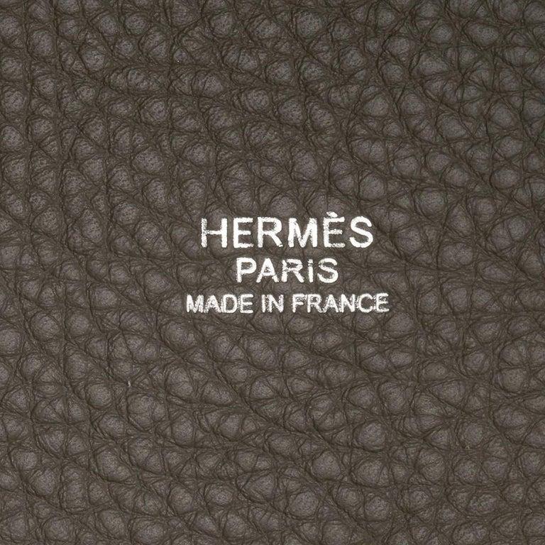 Hermes Picotin Lock 22 Bag MM Etain Palladium Hardware For Sale 2
