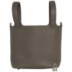 Hermes Picotin Lock 22 Bag MM Etain Palladium Hardware