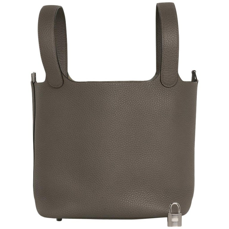 Hermes Picotin Lock 22 Bag MM Etain Palladium Hardware For Sale