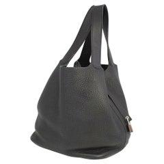 HERMES Picotin Lock GM Womens handbag black x silver hardware
