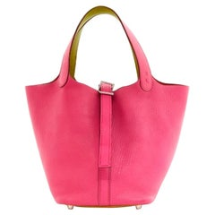 Hermès, Picotin Lock in pink leather