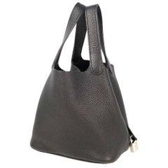HERMES Picotin Lock PM Womens handbag black x silver hardware