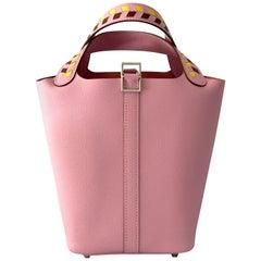 Hermès Picotin PM 18 Sylvestre Pink Tressage Mauve Epsom Tote Bag