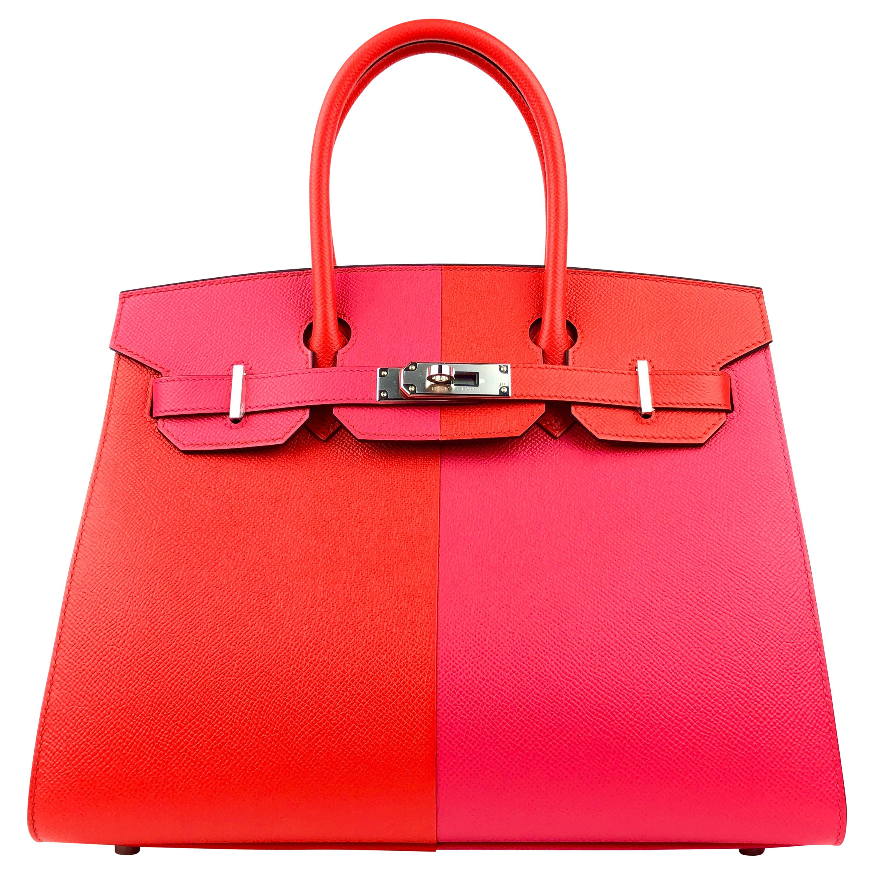 Hermès Pink and Red Epsom Special EditionSellier 30 cm Birkin