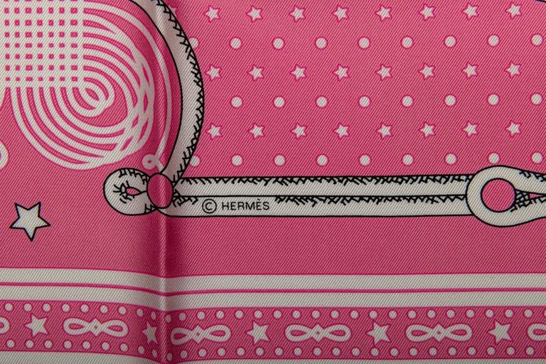 Hermès Pink Bandana Brandebourg In New Condition For Sale In West Hollywood, CA