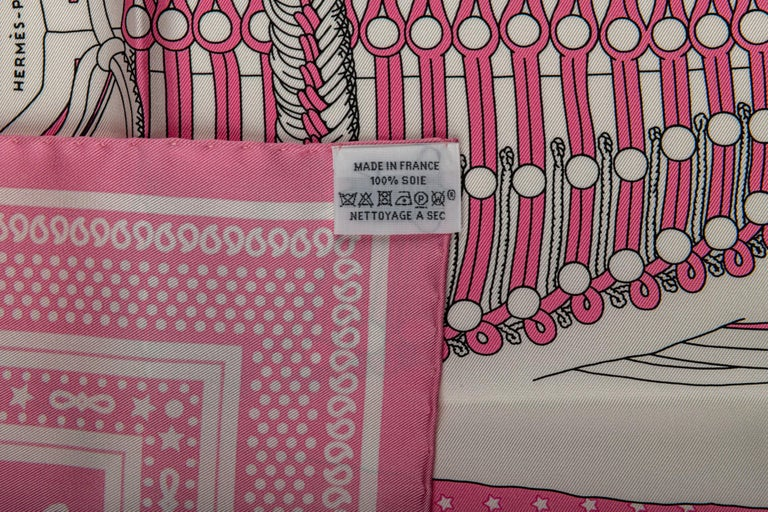 Hermès Pink Bandana Brandebourg For Sale 1