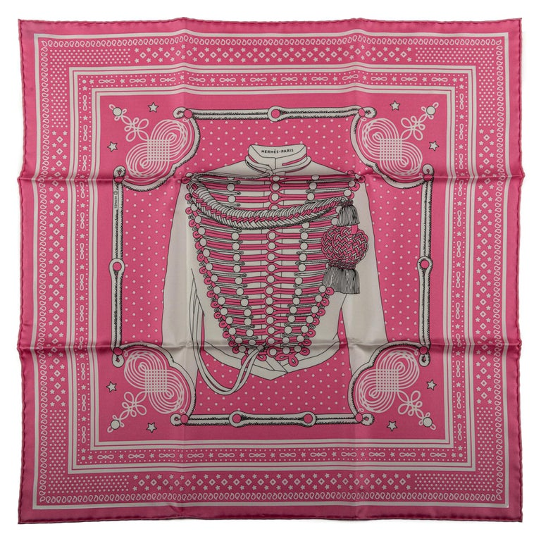 Hermès Pink Bandana Brandebourg For Sale