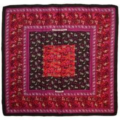 Hermes Pink/Brown Chasse En Ende Silk Scarf 90cm