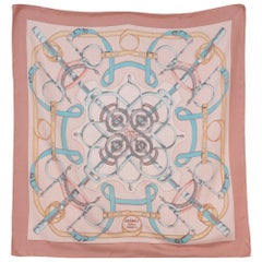 Hermes Pink Eperons d'Or by H. d'Origny Silk Scarf