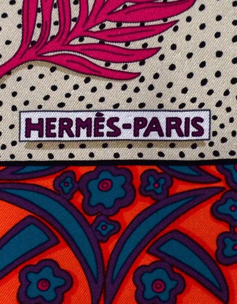 Women's or Men's Hermes Pink/Multicolor Zenobie Reine de Palmyre Silk Scarf
