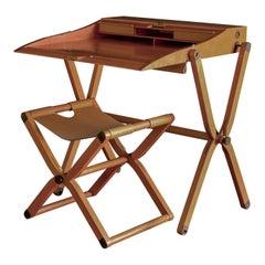 Hermès 'Pippa' Folding Desk and Seat, circa 1985