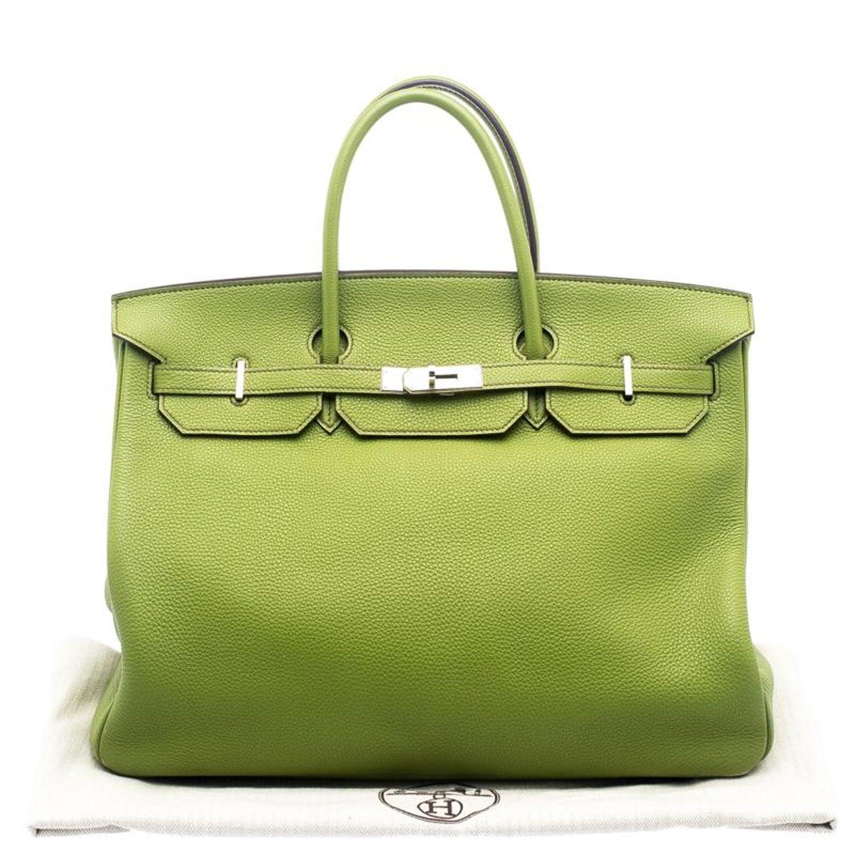 Hermes Pistacio Green Togo Leather Palladium Hardware Birkin 40 Bag For  Sale at 1stdibs 1153b9040