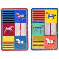 Hermes Playing Cards Couvertures Nouvelles Bridge Set