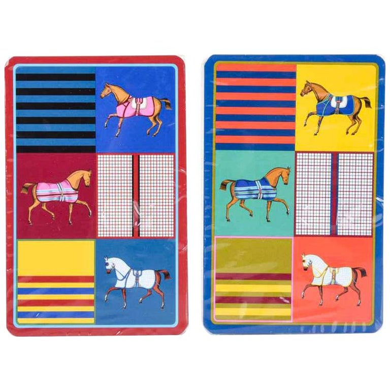 Hermes Playing Cards Couvertures Nouvelles Bridge Set For Sale