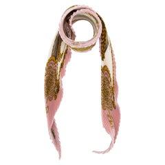 Hermès Pleated Brandeburg Pink Scarf