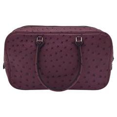 HERMÈS Plume Shoulder bag in Purple Exotic leathers