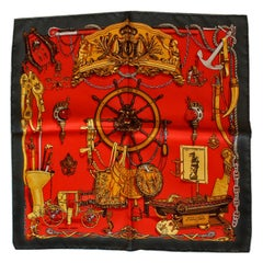 Hermes Pocket Multi Color Musee by  Phillipe Ledoux Scarf