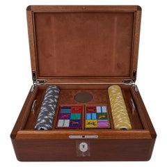 Hermes Poker Box Set Mahogany Wood New w/Box