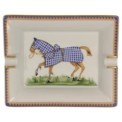 Hermès Porcelain Ashtray or Tray Vide-Poche Catchall Made in France