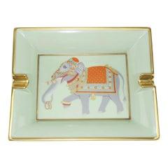 Hermès Porcelain Ashtray With Festooned Elephant