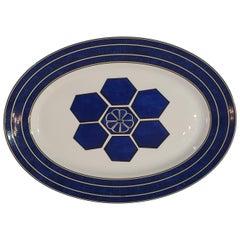 "Hermès Porcelain ""Bleus d'Ailleurs"" Oval Platter, France, Modern"