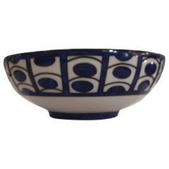 """Hermès Porcelain """"Bleus d'Ailleurs"""" Small Salad Bowl, France, Modern"""