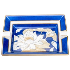 Hermès Porcelain Blue Flower Ashtray