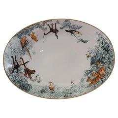 """Hermès Porcelain """"Carnets d'Equateur"""" Oval Plate, France, Modern"""