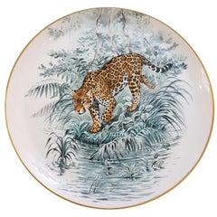"""Hermès Porcelain """"Carnets d'Equateur"""" Tart Platter, France, Modern"""