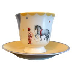 Hermes Porcelain 'Circus' Cup and Saucer