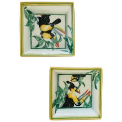 "Hermès Porcelain Pair of ""Toucan"" Dish"