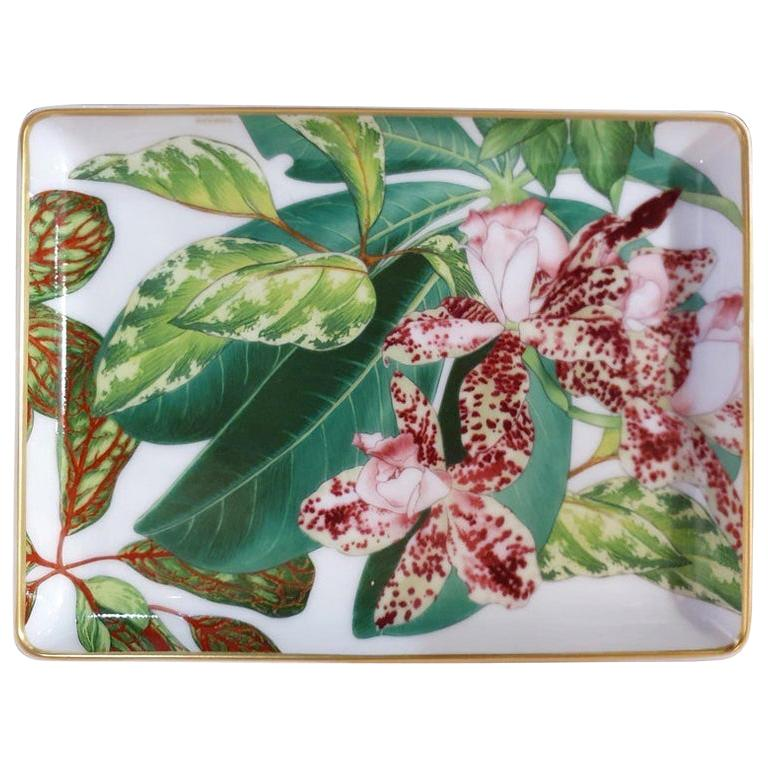 """Hermès Porcelain """"Passifolia"""" Small Charge Tray, France, 2021"""