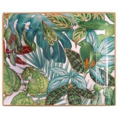 "Hermès Porcelain ""Passifolia"" Vide-Poche Charge Tray, France, Modern"