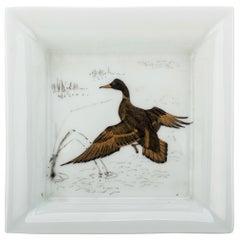 Hermes Porcelaine Duck Square Ashtray