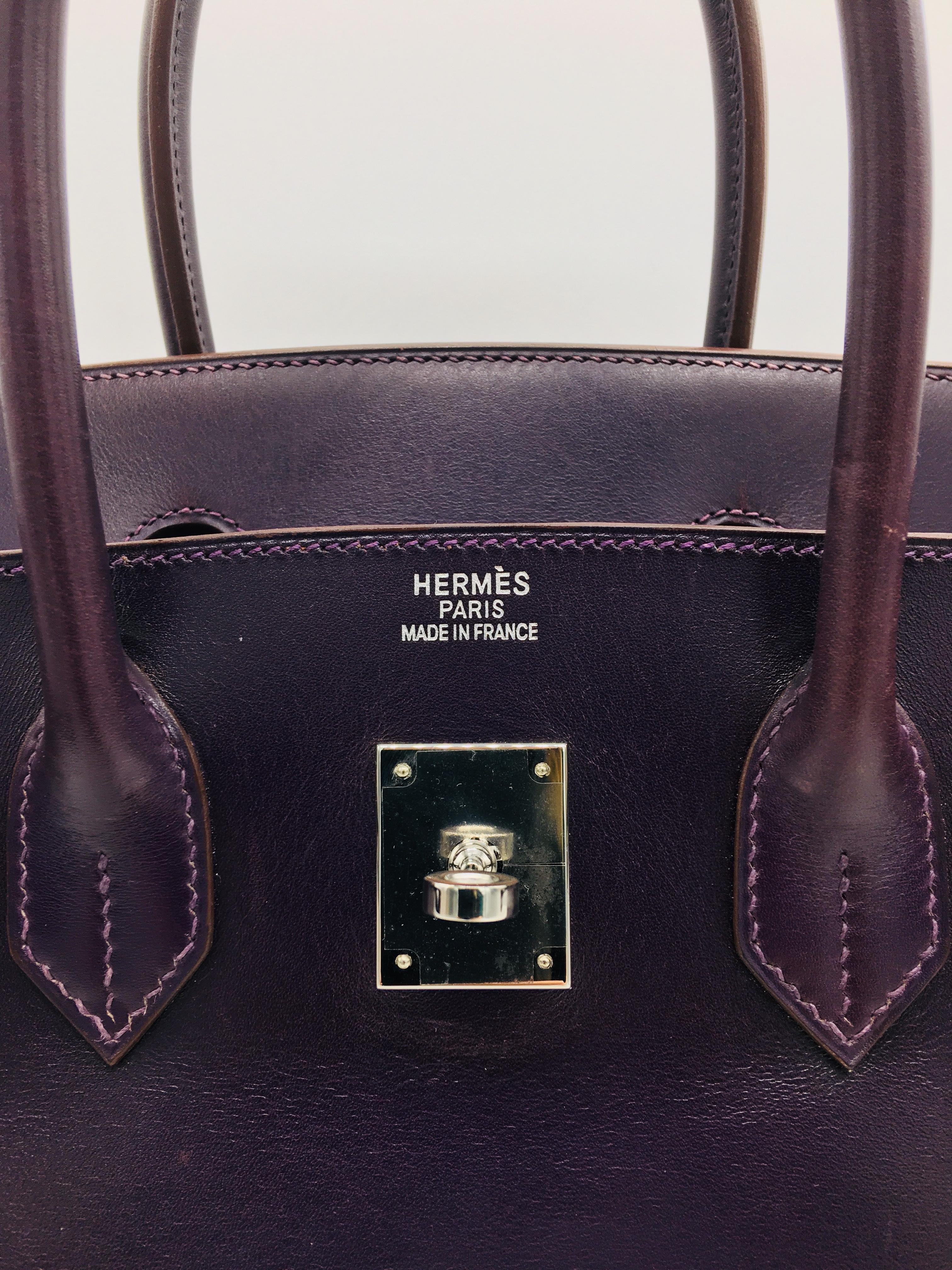 2f31f33f0b05 Hermes preloved Raisin   Anemone Birkin 35cm For Sale at 1stdibs