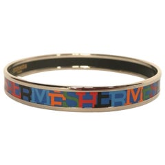 Hermès Printed Enamel Bangle