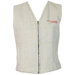 Hermès Promotional Beige Herringbone Canvas Vest Size M