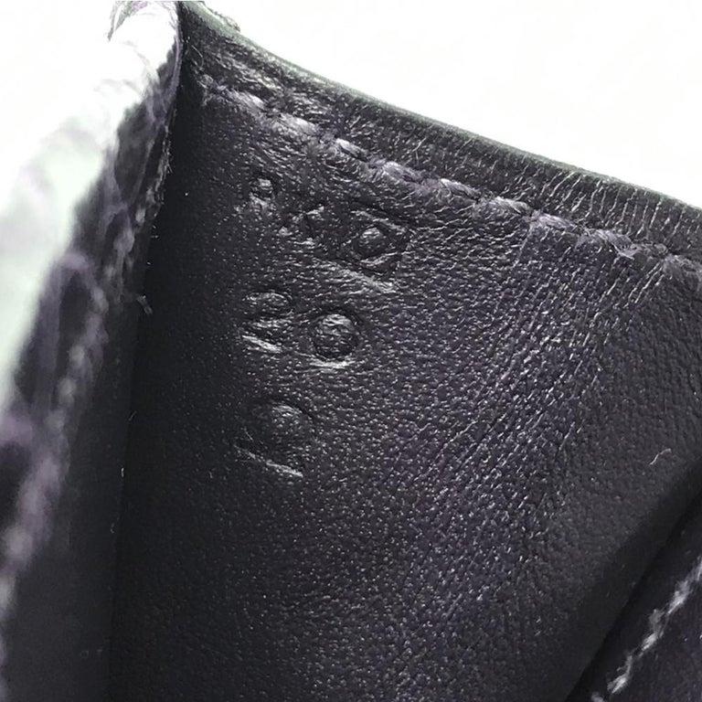 Hermès Prune Niloticus Crocodile Jige PM Clutch Bag For Sale 2