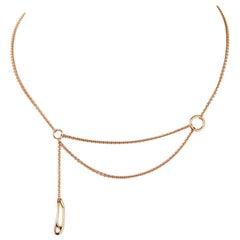 Hermès Punk 18 Karat Rose Gold Necklace