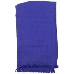 Hermes Purple Cashmere & Silk-Blend Scarf