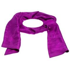Hermès Purple Cavalcadour Motif Silk Jacquard Maxi Twilly Scarf